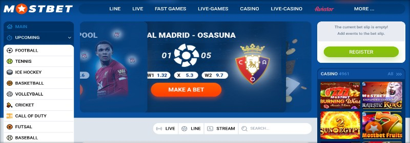 mostbet official site